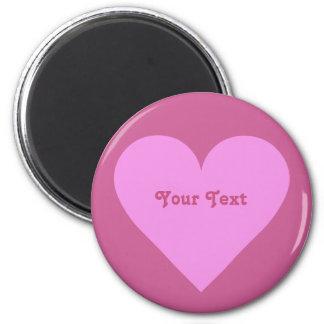 Pink Heart Valentine custom magnets