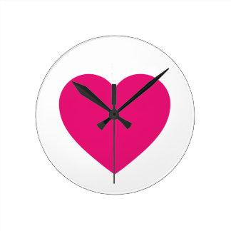 Pink Heart Wall Clock