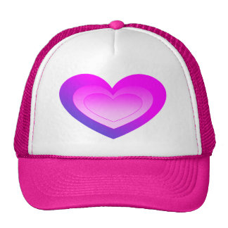 Pink Heart with Blue Fade Trucker Hat