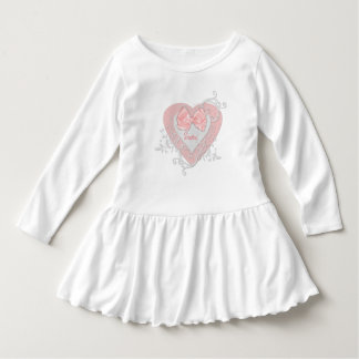 Pink Heart With Bow Image Customize Dress