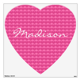 Pink Heart with Name Wall Decals