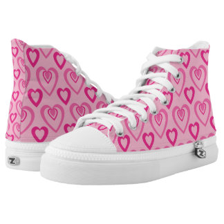 Pink Heartbeat Hi Tops