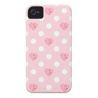 Pink Hearts and Polka Dots iPhone 4 Covers