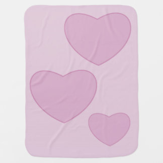 Pink Hearts Baby Blanket