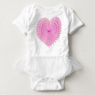 Pink hearts baby bodysuit