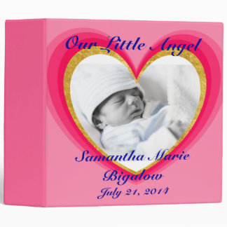 Pink Hearts Baby Girl Photo Album Binder