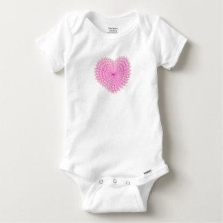 Pink hearts baby onesie