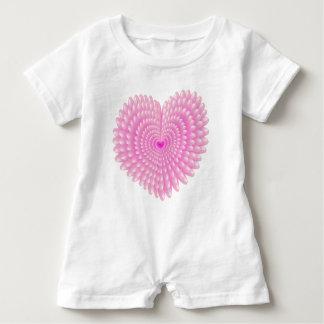 Pink hearts baby romper