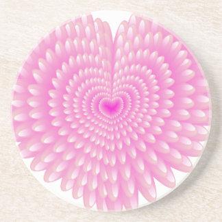 Pink hearts coaster