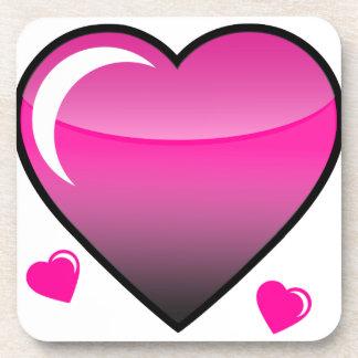 Pink Hearts Beverage Coaster
