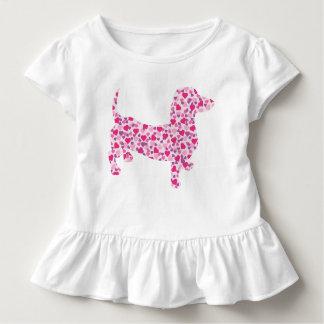 Pink Hearts Dacshund Toddler T-shirt