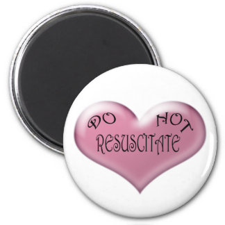 Pink Hearts Do Not Resuscitate Magnet
