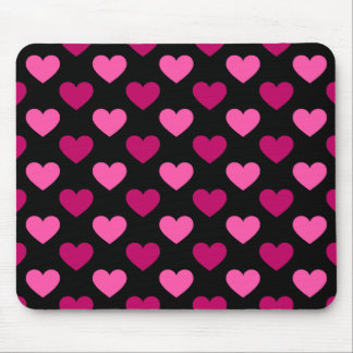 Pink hearts galore mouse pad