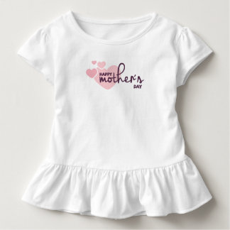 Pink Hearts Happy Mother's Day | Ruffle Tee