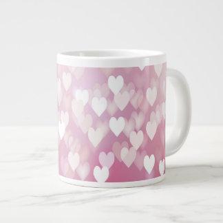 Pink Hearts Jumbo Mug