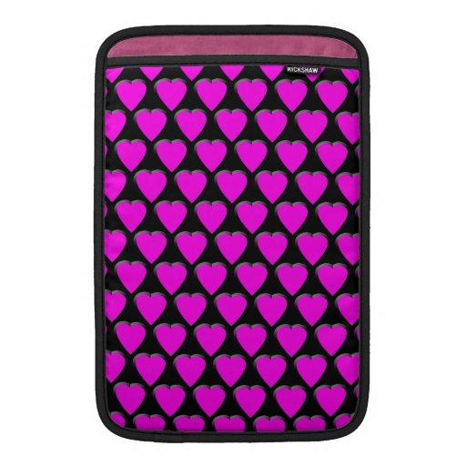 """Pink Hearts MacBook Air 11"""" Sleeve MacBook Sleeves"""