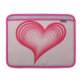 Pink hearts MacBook sleeve