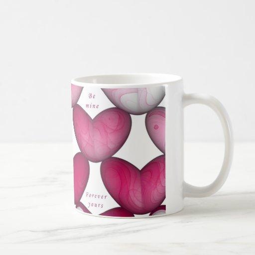 Pink Hearts Mugs