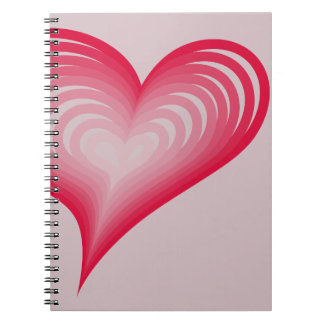 Pink hearts notebooks