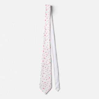 PINK HEARTS on WHITE by SHARON SHARPE Tie