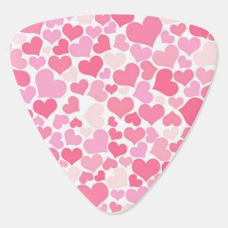 Pink Hearts Pattern - Guitar Pick