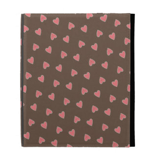 Pink Hearts Pattern iPad Case
