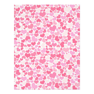 Pink Hearts Pattern Scrapbook Paper