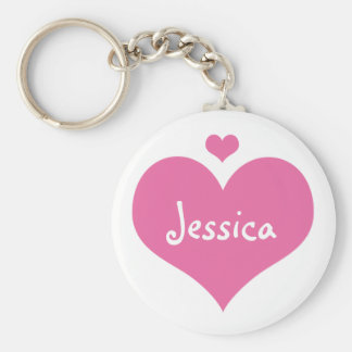 Pink Hearts - Personalized Girly Name Keychain