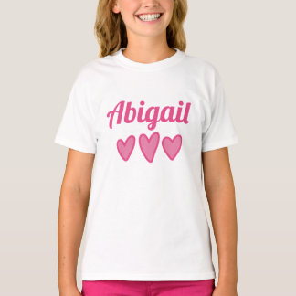 Pink Hearts Personalized T-Shirt