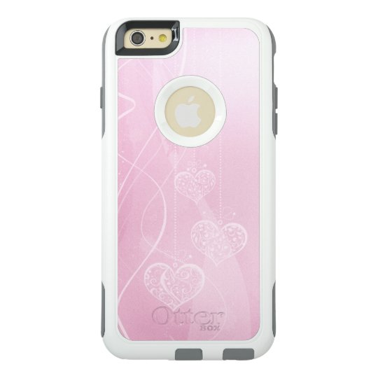 Pink Hearts Pink Plaid OtterBox Commuter iPhone 6 OtterBox iPhone 6/6s Plus Case