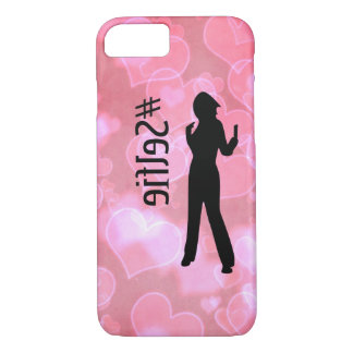 Pink Hearts #Selfie iPhone Case