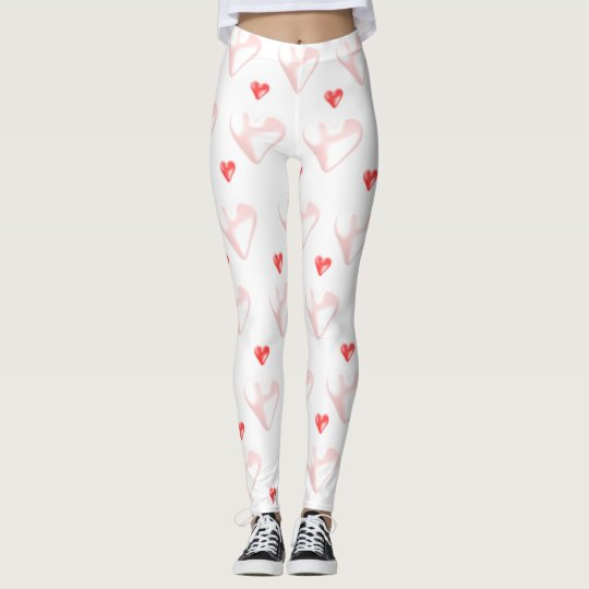 Pink Hearts Stretch Pants