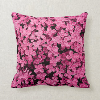 Pink Hedge - Flower Surface Texture Throw Pillow