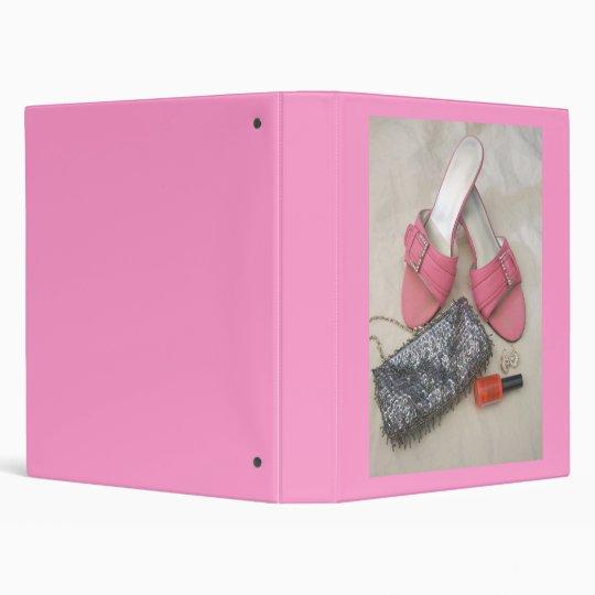 Pink Heels & Purse Binder