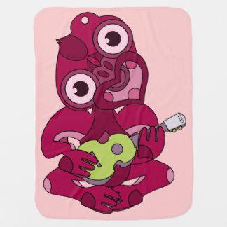 Pink Hei Tiki playing ukelele Baby Blanket