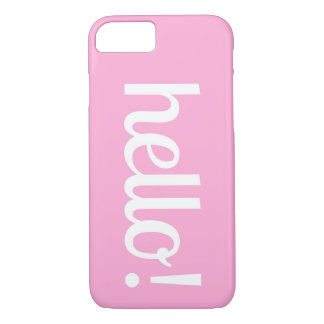 Pink Hello iPhone Case