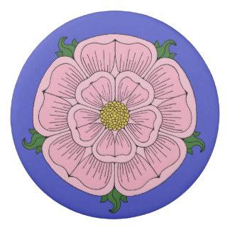 Pink Heraldic Rose Eraser