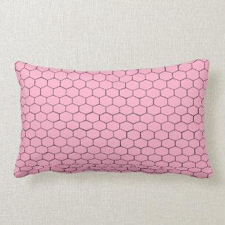 Pink Hexagons Lumbar Pillow