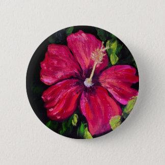 Pink Hibiscus 2 Inch Round Button