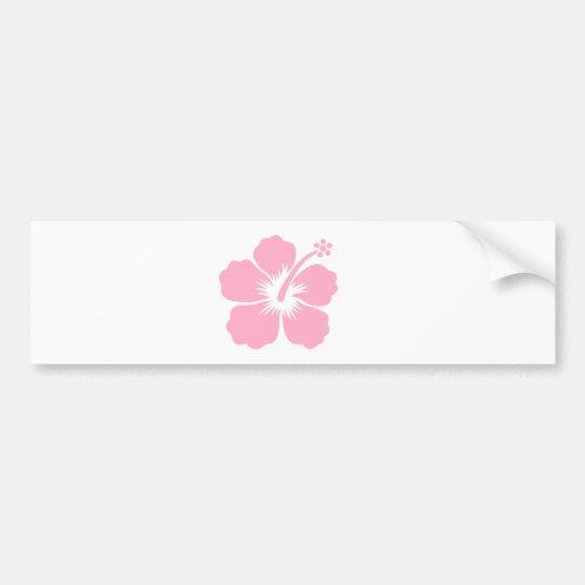 Pink hibiscus F Bumper Sticker