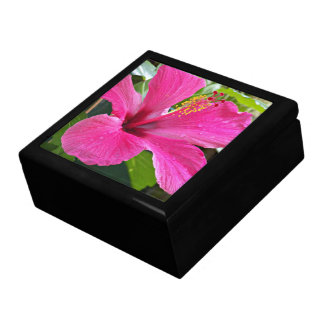 Pink Hibiscus Floral Gift Box