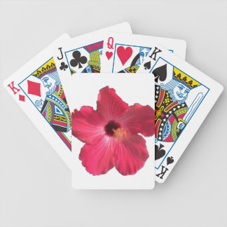 Pink Hibiscus Flower 201711e Bicycle Playing Cards