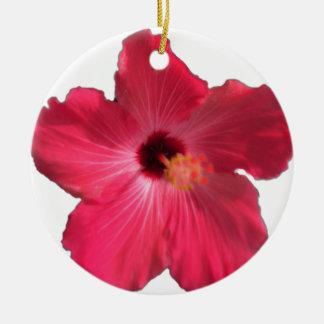 Pink Hibiscus Flower 201711e Ceramic Ornament