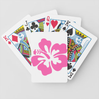 Pink Hibiscus Flower Bicycle Playing Cards