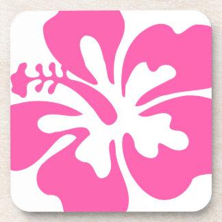 Pink Hibiscus Flower Coaster
