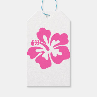 Pink Hibiscus Flower Gift Tags