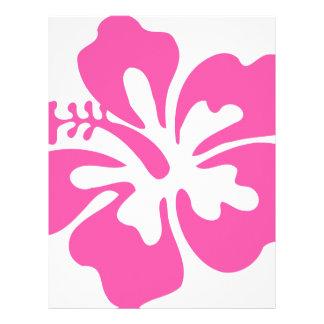 Pink Hibiscus Flower Letterhead