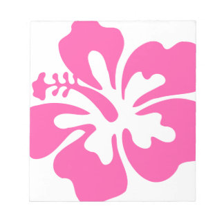 Pink Hibiscus Flower Notepad