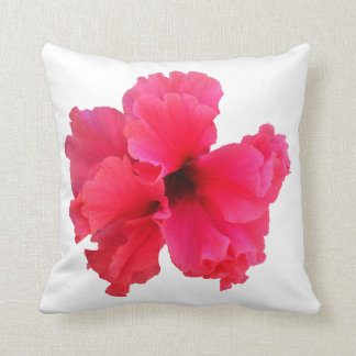 Pink Hibiscus Flower Picture Throw Pillow