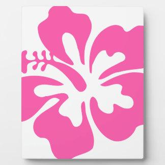 Pink Hibiscus Flower Plaque